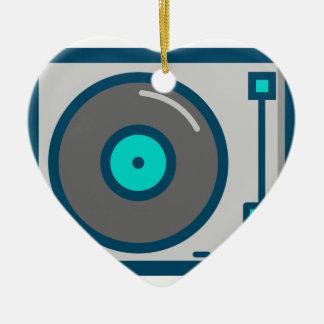 DJ Turntable Ceramic Ornament
