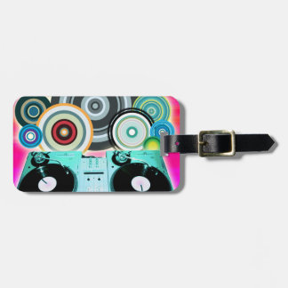 DJ Turntable Circles Tag For Bags