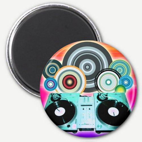 DJ Turntable Circles Magnet
