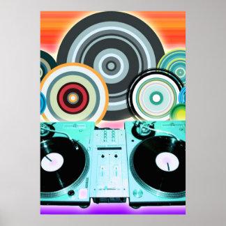 DJ Turntable Circles Poster
