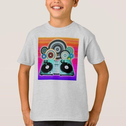 DJ Turntable Circles T-Shirt