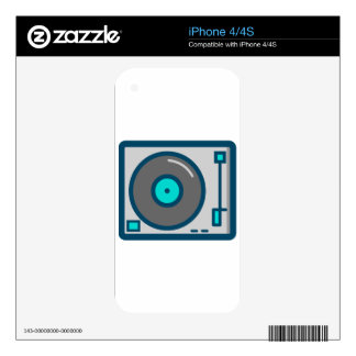 DJ Turntable Decals For The iPhone 4
