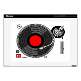 "DJ Turntable Disk Jockey 15"" Laptop Decal"