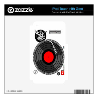 DJ Turntable Disk Jockey Decals For iPod Touch 4G