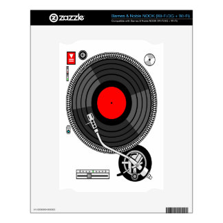 DJ Turntable Disk Jockey Decals For The NOOK