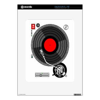 DJ Turntable Disk Jockey iPad Skins
