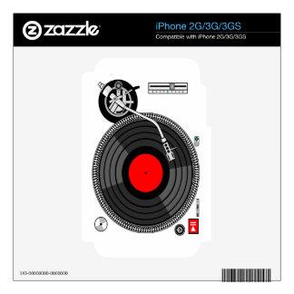 DJ Turntable Disk Jockey iPhone 3GS Decal