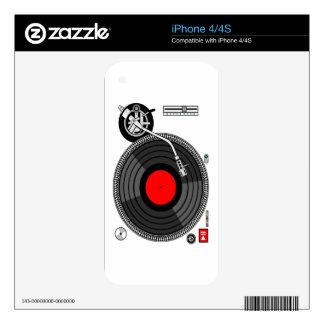 DJ Turntable Disk Jockey iPhone 4S Skins