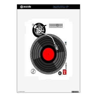 DJ Turntable Disk Jockey Skin For The iPad 2