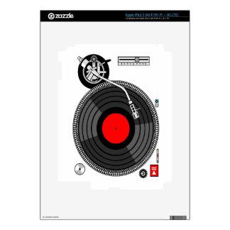 DJ Turntable Disk Jockey Skins For iPad 3