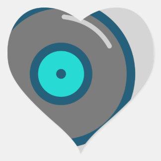 DJ Turntable Heart Sticker