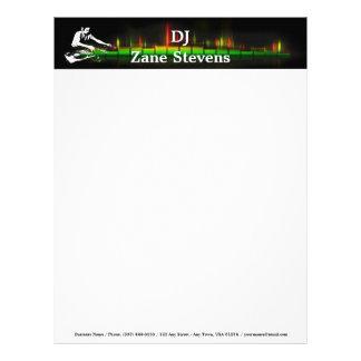 DJ Turntable Letterhead