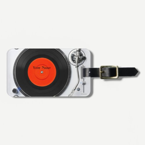 DJ turntable Luggage Tags