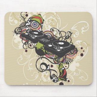DJ turntable Mousepad mousepad