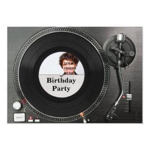 Dj Vinyl Record Birthday Invitations Zazzle