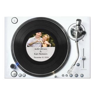 DJ turntable photo wedding Invitation