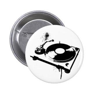 DJ Turntable Pinback Button