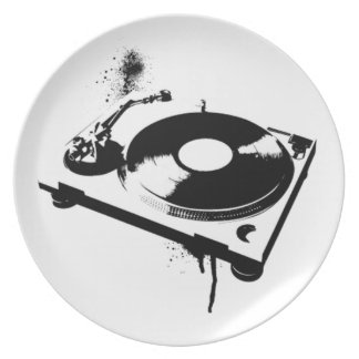 DJ Turntable Party Plate
