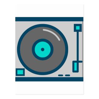 DJ Turntable Postcard