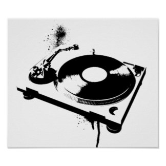 DJ Turntable Poster