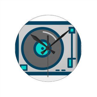DJ Turntable Round Clock
