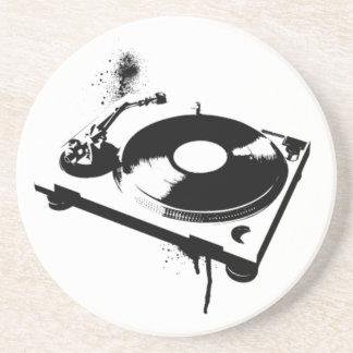 DJ Turntable Sandstone Coaster