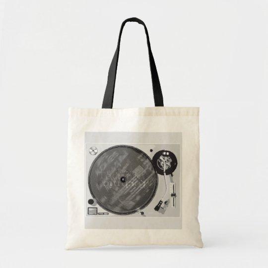 DJ Turntable Tote Bag