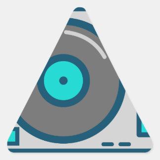 DJ Turntable Triangle Sticker