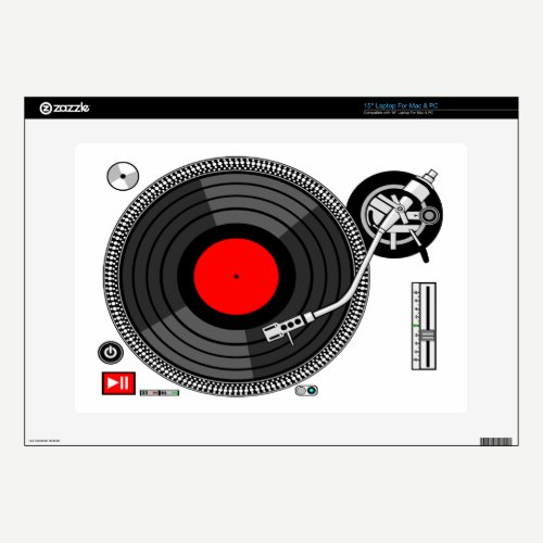 Dj Turntable urban vector Laptop Skin