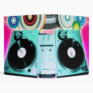 DJ Turntable with Vinyl - Pop Art 3 Ring Binder