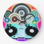DJ Turntable with Vinyl - Pop Art Clocks