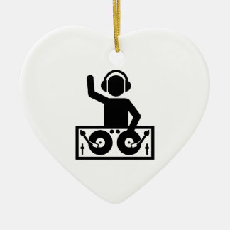 DJ Turntables Ceramic Ornament