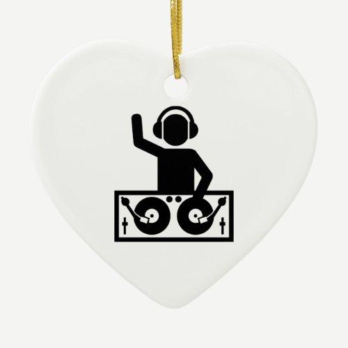 DJ Turntables Ceramic Ornament