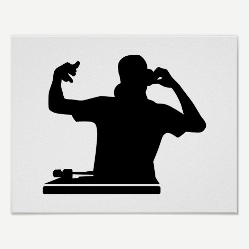 DJ Turntables club music Poster