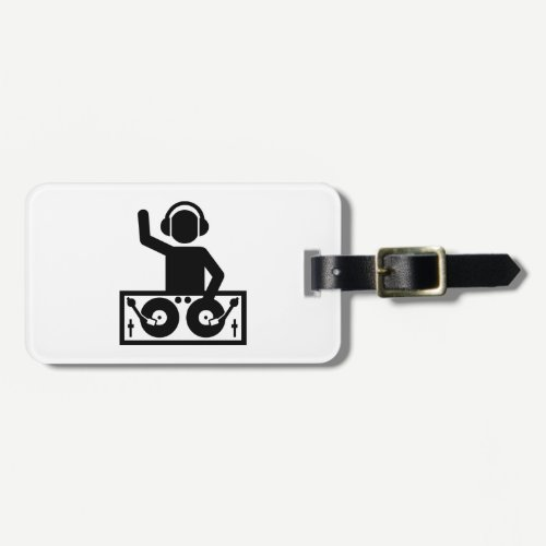 DJ Turntables Luggage Tag