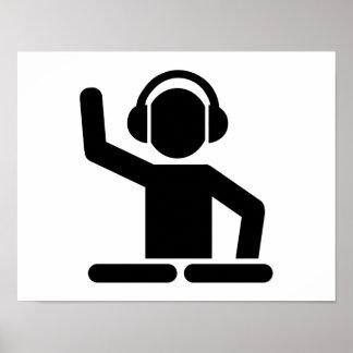 DJ Turntables Poster