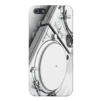 DJ Turntables Sketch 3D Illustration iPhone 5/5S Cases