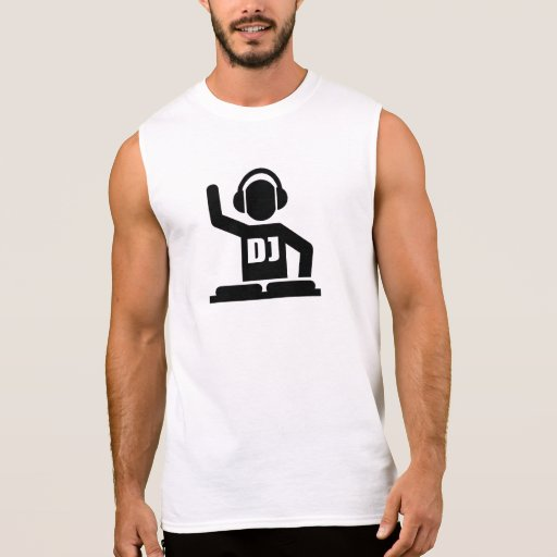 DJ Turntables Sleeveless Tee Tank Tops, Tanktops Shirts