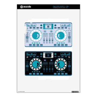 DJ Turntables Vector Skin For The iPad 2