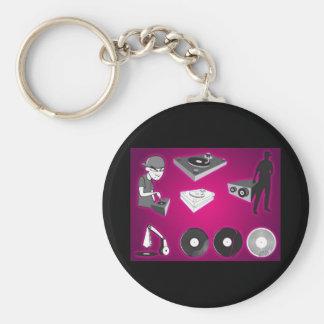 dj-vectors-10117-large basic round button keychain