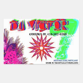 Dj victor #2 rectangular sticker
