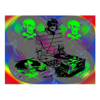 DJ Vinal Spinner Postcard