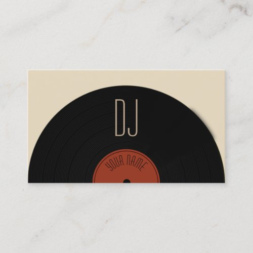 DJ vinyl record plate cover Business Card