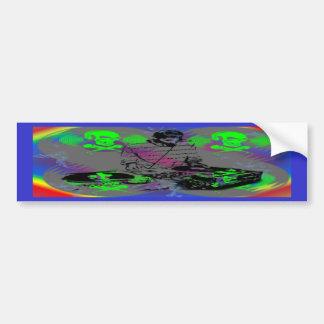 DJ Vinyl Spinner Bumper Sticker