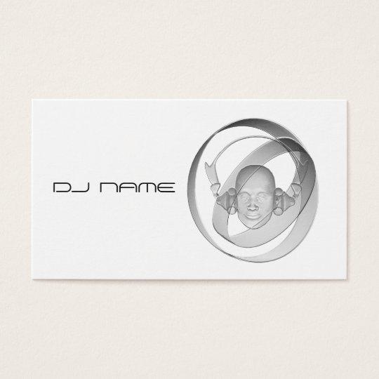DJ white Business Card