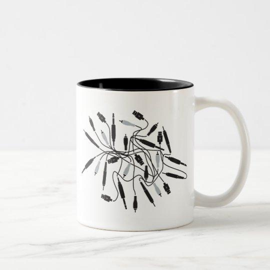 DJ Wires Two-Tone Coffee Mug