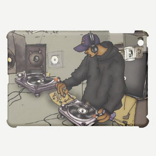 DJ with 2 Turntables - Case For The iPad Mini