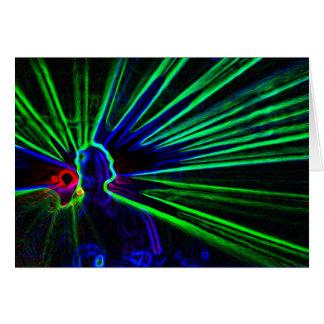 DJ y las luces laser esconden notelet/la tarjeta