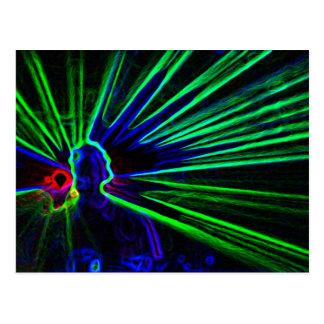 DJ y postal de las luces laser