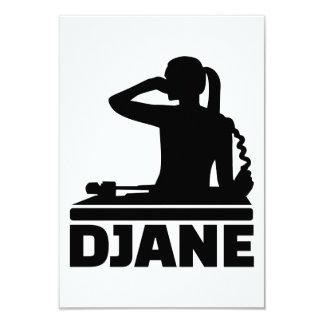 """Djane Invitación 3.5"""" X 5"""""""